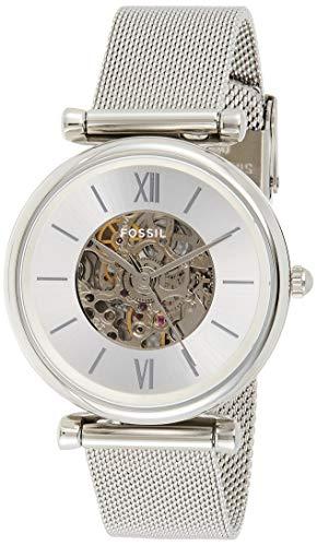 FOSSIL Reloj Analógico para Mujer de Automático con Correa en Acero Inoxidable ME3176