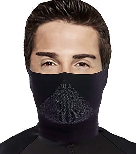 Leif Nelson Gym Herren Damen Mundmaske für Sport Radfahren antibakteriell Gesichtsmaske Maske atmungsaktiv Multifunktionstuch Sturmhaube Sturmmaske Gesichtsschutz Mundschutz waschbar LN20200 Schwarz