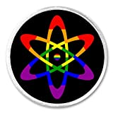 Rainbow Atom 3' Sew On Patch Science Scientist Biology Cool