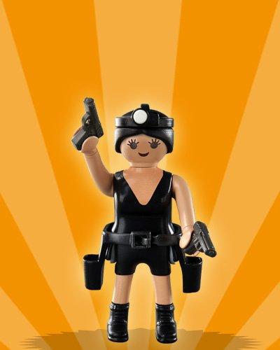 PLAYMOBIL® Figur Mädchen Serie 2 Nr. 2 # Polizistin / Agentin # 5158
