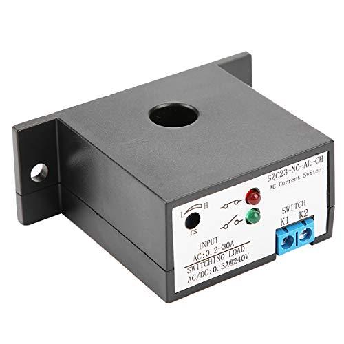 SANON Interruptor de Detección de Corriente Normalmente Abierto Ajustable Ac 0. 2-30A Szc23-No-Al-Ch Negro