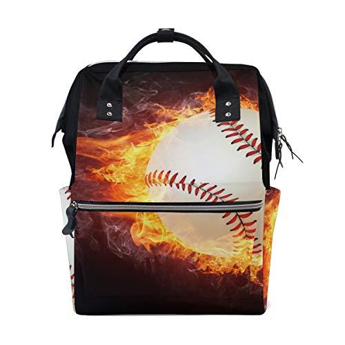 LUPINZ Sac à Langer Multifonction en Forme de Baseball enveloppé dans des Flammes colorées