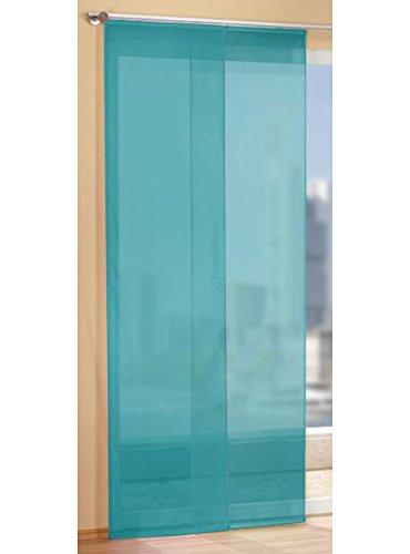 Gardinen Set, 2 x Flächenvorhang Schiebegardine mit Zubehör, Türkis