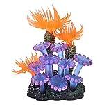 Acuario Decoracion Tanque de Peces de Coral subacuático Artificial simulación de Fondos de Coral Plantas Agua acuática Hierba