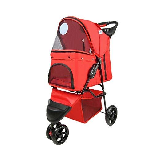 Honden kinderwagen, buggy kar huisdier buggy drager outdoor reizen plooien kat 3 wielen hond jogger voor kleine gehandicapters hond 3