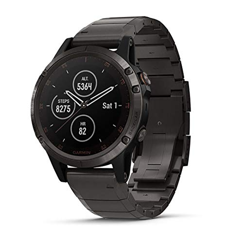 Garmin fenix 5 Plus, Premium Multisport GPS Smartwatch,...