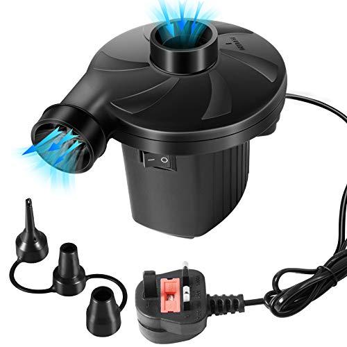 Cobiz Bomba de Aire Eléctrica, hinchador electrico 2 en 1 Inflador Electrico...