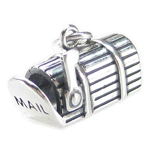 Mailbox Sterling Silber Charm 925X 1US Mail Box. Have You Got Mail dkc91114
