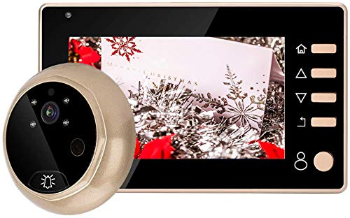 Mirilla Digital, Cámara Mirilla,Visor de Mirilla de Puerta Pantalla HD 4.3 Inch Color+Función de Visión Nocturna+32G,Mirilla Electrónica Ojo de Gatopara para Casa/Hotel