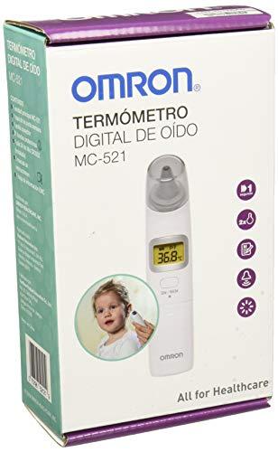 Omron, Termómetro Digital de Oído Omron Mc-521-la, Blanco