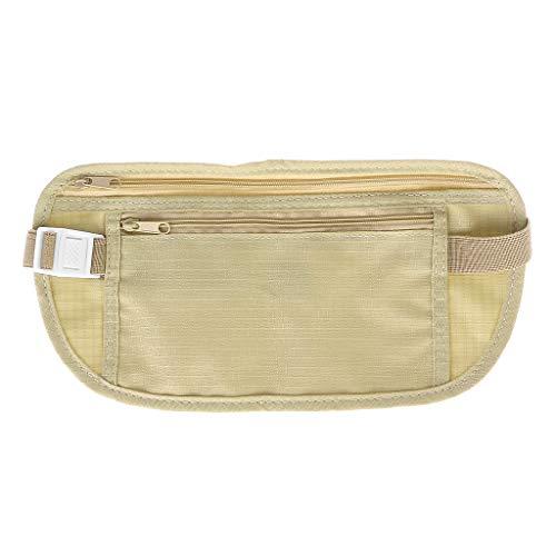 SHURROW Bolsa de Viaje Cartera Oculta Pasaporte Dinero Cinturón Bolsa Bolsa de Almacenamiento de Seguridad Secreta Delgada