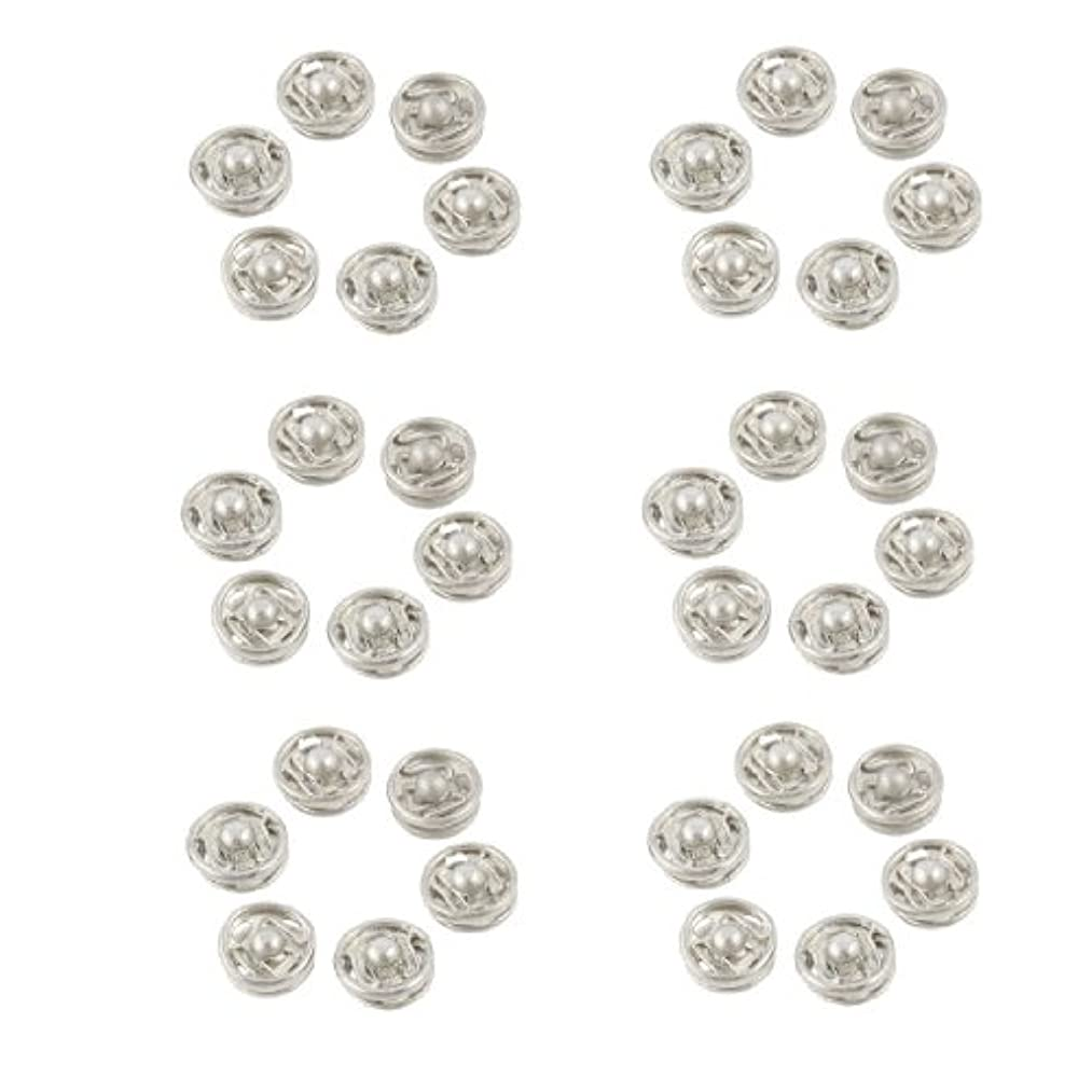 Clothes Sewing 7mm Press Studs Buttons Fastener Silver Tone 36 Pcs