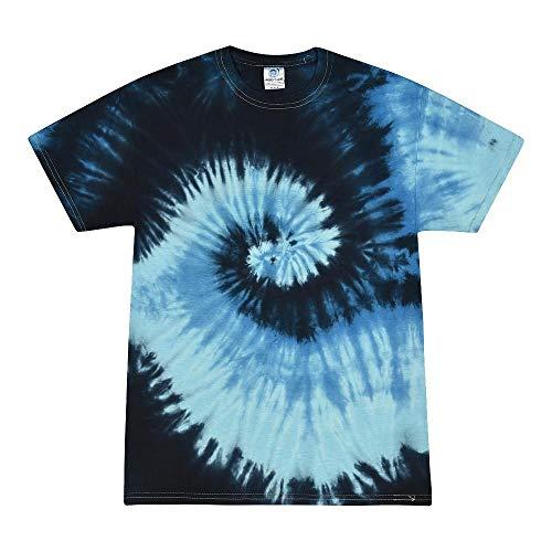 Colortone Colortone - Unisex Batik T-Shirt 'Rainbow' / Blue Ocean, XL