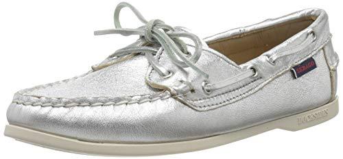 Sebago Jacqueline Metal W, Scarpe da Barca Donna, Argento (Silver 988), 37.5 EU
