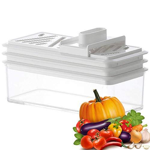 FENGLI Cortador de cebolla picadora de verduras manual – Espiralizador de verduras mandolina Slicer alimentos vegetarianos cocina picador de frutas resistente