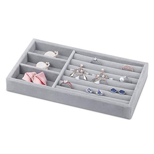 Jolicobo Caja Joyero Anillo de Boda Caja de Joyas Terciopelo Ring Box para Anillos, Collares, Pendientes