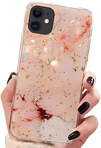 Fulidy Coque iPhone 11, Souple TPU Silicone Fleur Motif Ultra Mince Bumper Coque Housse Etui Anti Choc Protection Housse pour iPhone 11 6.1\