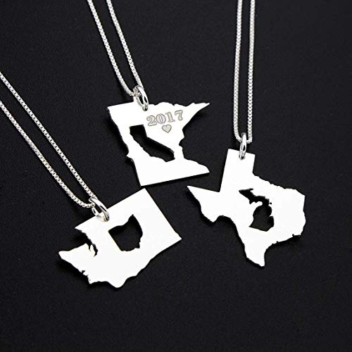 State Sterling Silver Necklace