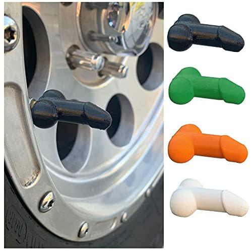 Urkomisch Penisförmig Passgenaue Ventilkappen, 4 Stück Autoventil-Kappen Ventilkappen für Auto, LKW, Fahrrad, Motorrad, Einzigartiges Design