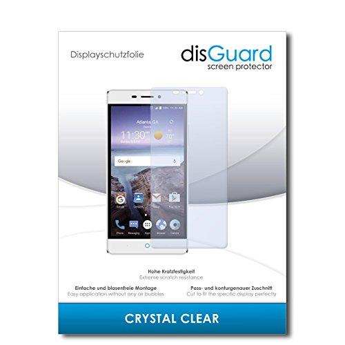 disGuard® Bildschirmschutzfolie [Crystal Clear] kompatibel mit ZTE Blade V580 [4 Stück] Kristallklar, Transparent, Unsichtbar, Extrem Kratzfest, Anti-Fingerabdruck - Panzerglas Folie, Schutzfolie