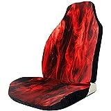 MOLLUDY Cojines de fuego rojo Cojín antideslizante para coche Cojín de prueba sucio con correas elásticas Resistentes a las arrugas