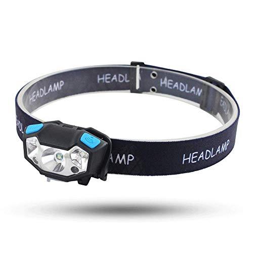 Lampe Frontale Rechargeable,Orientable Imperméable LED Headlamp avec Contrôle du Capteur,pour Running, Vélo, Randonnée, Camping