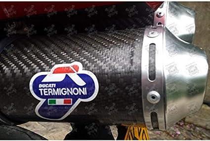 MAXIMUN 190/º 6 cm TERMIGNONI Exhaust Decals Stickers 2 PCS Heat Proof