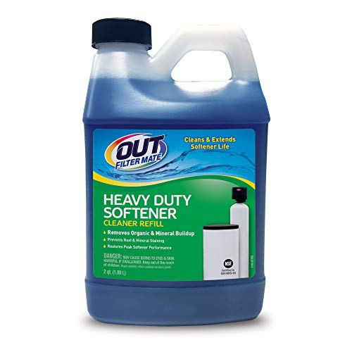 OUT Filter Mate Heavy Duty Water Softener Cleaner System Kit, Powerfully Removes Lime, Rust and Buildup, 64 Ounce