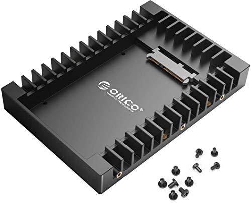 """ORICO 2,5\"""" auf 3,5\"""" interner Festplattenadapter Konverter Einbaurahmen Wechselrahmen, für 2,5 Zoll SATA HDD oder SSD von 7/9,5/12,5 mm"""