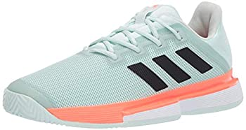 adidas Men s Solematch Bounce M Sneaker Dash Green/core Black/Signal Coral 7 M US