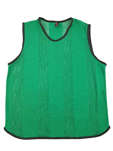 potente para casa Ronex Sports Football Training Bibs – Adultos – 10 (verde, adultos)