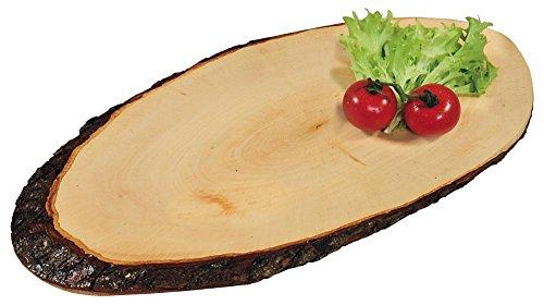 Kesper 5 stuks boomschors serveerplank van elzenhout, 35 x 16 cm, dikte 1,5 cm