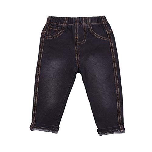 UWBACK Unisex Baby Boys Jeans Elastic Waist Denim Pants for Girls 18M-9 Years Black 18 Months
