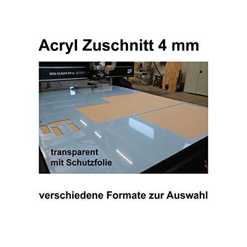 Acrylglas Zuschnitt PLEXIGLAS® Zuschnitt 2-8 mm Platte/Scheibe klar/transparent (4 mm, 900 x 800 mm)