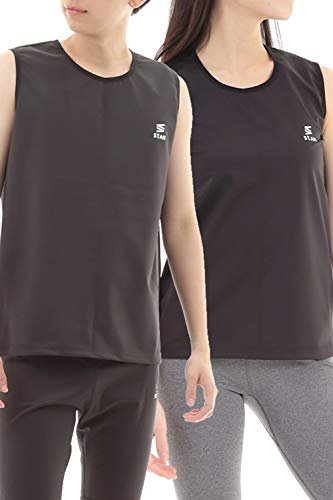 stan サウナスーツ インナー メンズ レディース ダイエット [中に着れるひっそり大量発汗 サウナベスト ] (M, レディース)