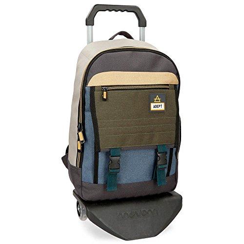 """Adept Camper Sac à dos avec chariot pour ordinateur portable Multicolore 32x42x16 cms Polyester 13,3"""" 21.5L"""