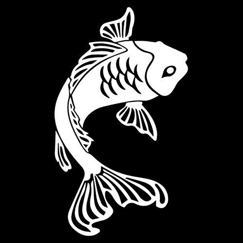 10CMx17.2CM Vinyl Decal Goldfish Koi Fish Car Window Aquarium Fish Car Sticker Black