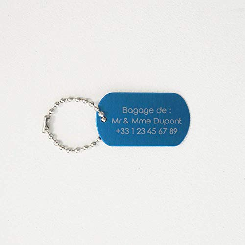 Personalised Luggage Tags, Suitcase, Travel Plane blue