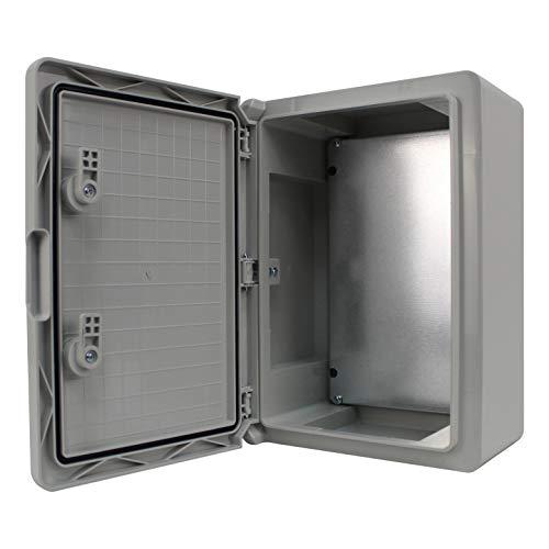 Schaltschrank IP65 Industriegehäuse verzinkter Montageplatte Verriegelung Tür mit umlaufender Dichtung Gehäuse Leergehäuse ABS Kunststoff Schrank (250x350x150mm)