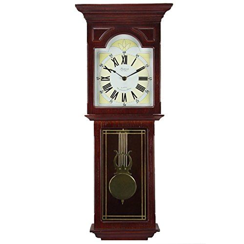 Bedford Clock Collection Redwood 23' Wall Clock with Pendulum and...