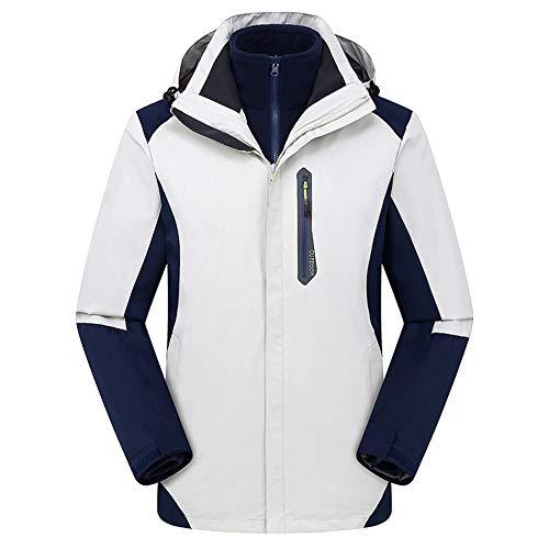 FENGSHUAI Waterdichte jas voor mannen en vrouwen, drie-in-één tweedelige afneembare jas voor ski-klimmen, XS