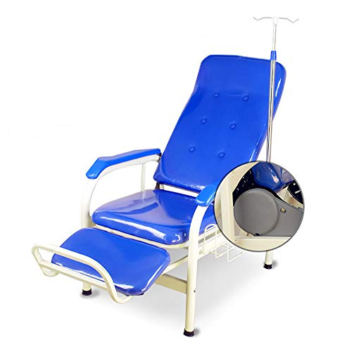 PYXZQW Infusionsstuhl mit Infusionsstab mit Regal, einzelner Wartesessel Liegestuhl für Krankenhäuser, Kliniken, Heim