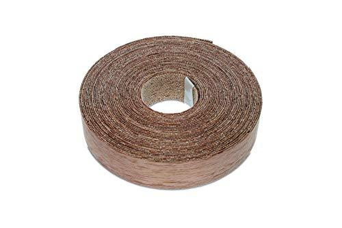 22mm Echt Nussbaum, Eisen-On Kantenanpassung – Hohe Qualität 7,5m Rolle – Vorgeklebt Holzfurnierband für die Einfache DIY-Anwendung – Bedeckt den Rand eines Standard-MDF-Panels