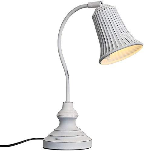 DJSMtd Loft Retro hierro Industrial Lámparas de Mesa Salón Estudio Dormitorio Mesita Desk Lamps Creativo E14 (Color: A-30.5*37cm)