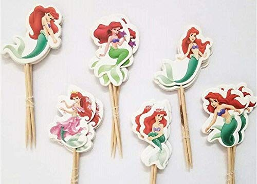 The Little Mermaid Cupcake Toppers Birthday Party Disney Little Mermaid Cake Toppers Pack of 24
