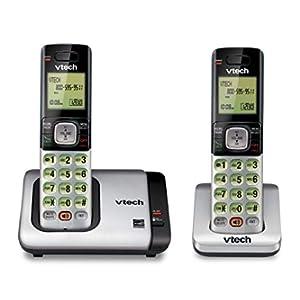 VTech CS6719-2 2-Handset Expandable Cordless Phone with Caller ID/Call Waiting, Handset Intercom & Backlit Display/Keypad, Silver