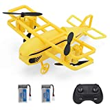 GoolRC H95 Mini Drone for Kids, 2.4Ghz RC Quadcopter with 3D Flip, Headless Mode, Altitude Hold, One Key Take/Landing/Return and Speed Adjustment, Great Gift Toys for Boys & Girls (2 Battery, Yellow)