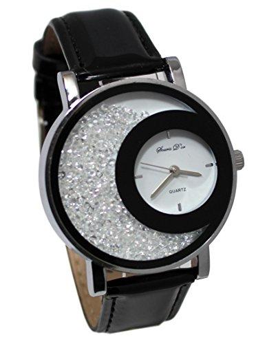 Estuche de reloj para mujer con cristales y pulsera de plata Dolce Vita