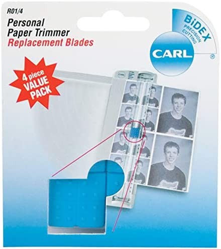 Kansas City Mall Carl Manufacturer regenerated product Personal Paper Trimmer 4 Pkg-Straight Replacement Blades