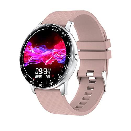 XYJ H30 Smart Watch Compatible con iOS Android TELÉFONOS Hombre y Femenino Ritmo cardíaco y Control de presión Arterial Reloj Bluetooth Deportivo Inteligente (Color : D)